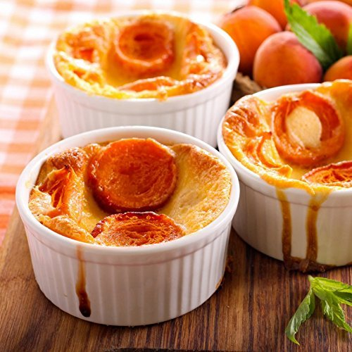 8-Piece 4 oz Porcelain Ramekins Bakeware Set, White Porcelain Baking Cups for Pudding, Creme Brulee, Custard Cups and Souffle Dishes, Durable 4 ounce Ramekins for Baking, Cooking, Serving and More by California Home Goods (Image #3)