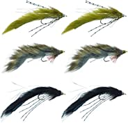 The Fly Fishing Place Muddy Buddy Zuddler Cone Head Lunchables Streamer Fly Fishing Flies Assortment - Bass an