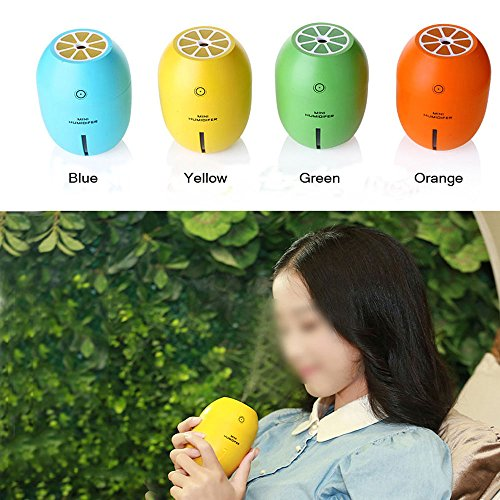 ge) Lemon Shaped Mini Portable Cool Mist Humidifier For Office, Home and Car Use, with USB Charge 4 Hours Auto Shut- off, Best Travel Partner (Mini Car Shape)