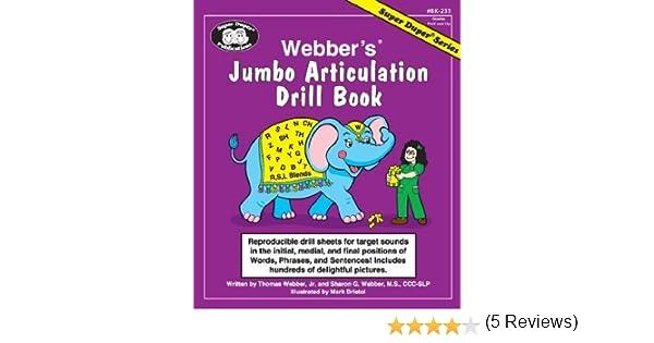 Webber's® Jumbo Articulation Drill Book: Reproducible drill sheets ...
