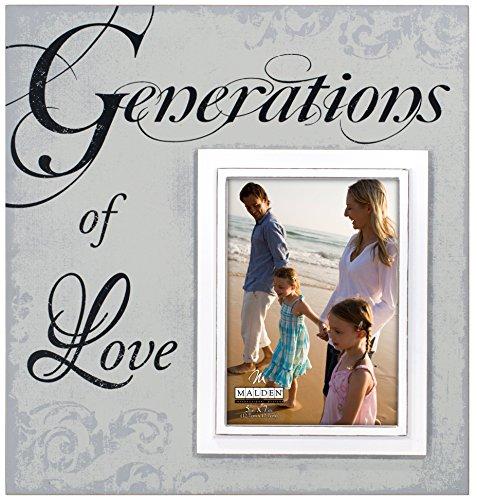 - Malden International Designs Sentiments Generations of Love Wood Picture Frame, 5x7/12x13, Light Gray