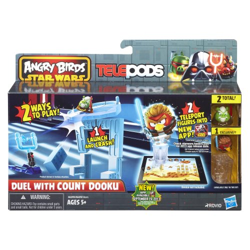 Angry Birds Star Wars Telepods Duel with Count Dooku Playset (Star Wars Angry Birds Game)