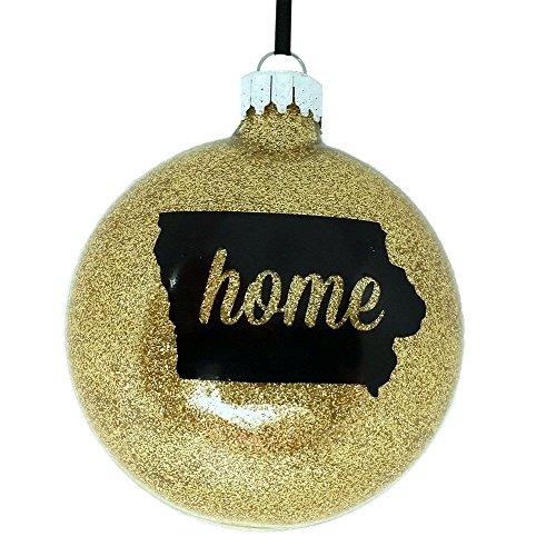 kittd Iowa Black & Gold Home Christmas Ornament (Ornaments Of Iowa Christmas University)