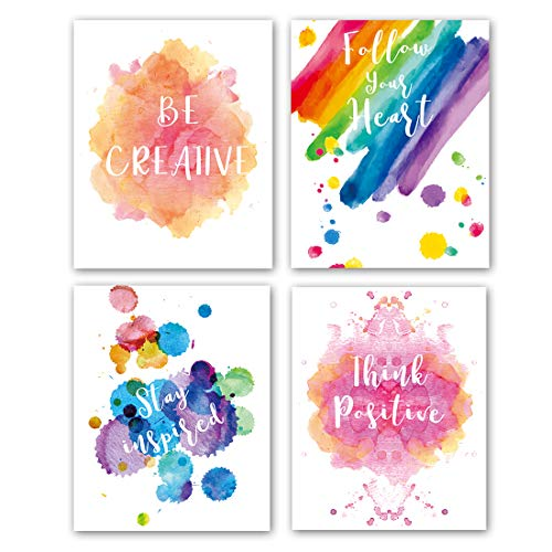 Abstract Watercolor Art Print Set of 4 (8