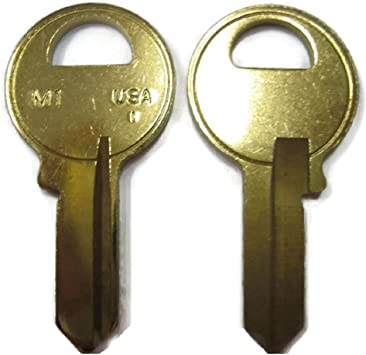 8   M-1 PADLOCK key blanks  MADE by ILCO in USA