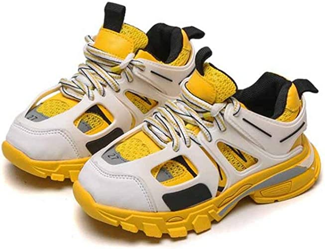 Zapatillas de Running Ligeras para niños Zapatos de Zapatillas Deportivas con Cordones Transpirables de Malla de Cuero de Primavera y otoño Zapatos para Estudiantes: Amazon.es: Zapatos y complementos