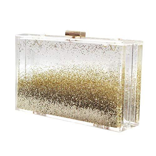 Miss discothèques À Sparkle Mariage Sac De Joy Bal De Acrylique Sac Bourse de Sac Sac Soirée Dames Fluid Main Quicksand Boîte pour Transparent rRrgqw47x