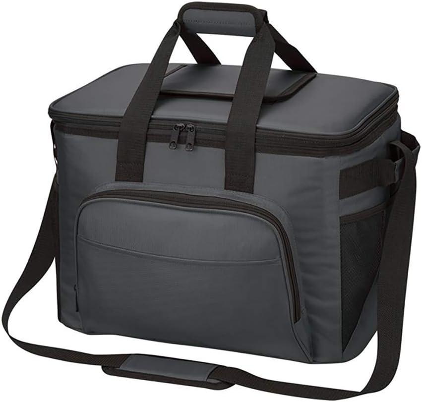 ZYNWW Lサイズ 断熱ランチバッグ 再利用可能なランチボックス ピクニッククーラーバッグ 男女兼用 調節可能なショルダーストラップ (レッド、ブルー、ブラック、グレー、ネイビー) グレー 109-787-811