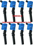 A-Team Performance 140032 PowerCoil Ignition Coil, 1997-2014 FORD SOHC 4.6/5.4/6.8L, V8 ENGINES, 2 VALVE, BLUE, COMPLETE SET OF 8
