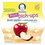 Gerber Graduates Fruit Pick Ups - Diced Apples, 4.5-Ounce (Pack of 8)