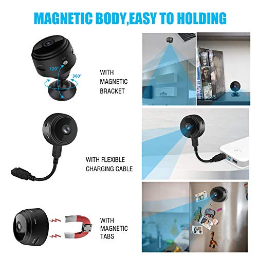 Spy Camera, Mini Spy Camera 1080p Hidden Camera with WiFi Small Portable Wireless Home Security Surveillance Covert Tiny Camera with Night Vision, Motion Detection, Remote View