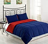 3-Piece Comforter Set Reversible Down Alternative | Color Red/Navy Blue SIZE: KING One Day Sale