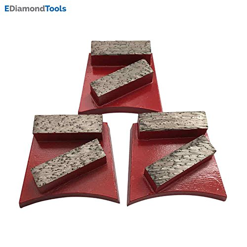 Floor Disc Diamond (Fast Change Diamond Floor Grinding Discs #60/80 Grit Medium Bond - Set of 3)