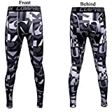 1Bests Mens Sports Running Camo Compression Pants