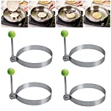 4 Pcs Fried Egg Mold for Cooking Non Stick Pancake Rings Metal Kitchen Cooking Tools