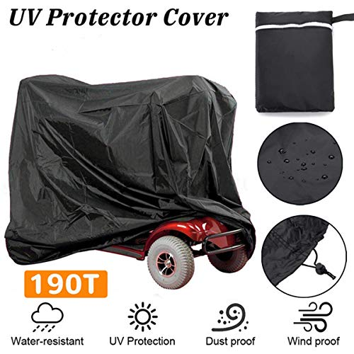 (66.3 x 23.8 x 45.6 inch Mobility Scooter Cover,Waterproof Nylon Cloth Power Mobility Scooter Storage Cover Scooter Big Car Cover)