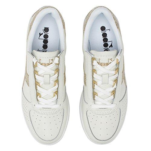 L elite Blanc B De Femme Gymnastique C1070 Or Chaussures Wn Diadora qgZEO4wO