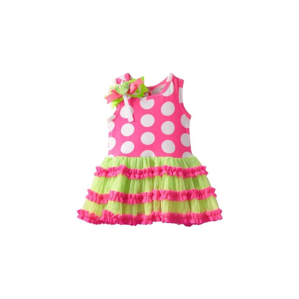 Rare Editions Baby Baby Girls Newborn Dot Tutu Dress