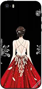 Case For iPhone 5s Red Dress Girl Looking Cute