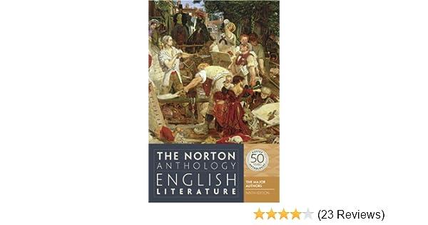 Amazon com: The Norton Anthology of English Literature: The