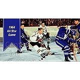 Johnny Bower, Tim Horton, George Armstrong, Bobby Hull Hockey Card 1994 Parkhurst Tall Boys 64-65 #151 Johnny Bower, Tim Horton, George Armstrong, Bobby Hull