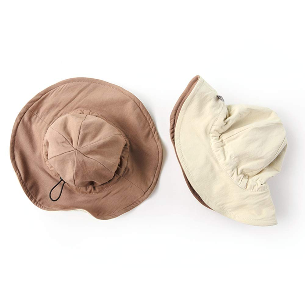 NN Sun hat Fisherman hat Infant Child boy Girl Sunscreen Wide Side Spring and Summer can Bring Front and Back, a Variety of Colors to Choose from Children's Outdoor Equipment