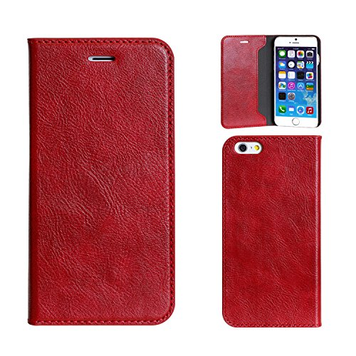 Magnetic Clip Type Diary Case for iPhone 6 /iPhone 6 s (Red)