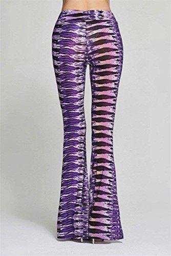 Moda Vintage Pantalone Violett Libero Fit Taille Mode Tempo Pants Elegante Stampato Donna Primaverile Pantaloni Di Slim Nahen Marca Colpo Larghi Autunno xwq1n06Y4R