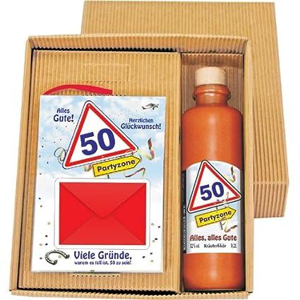 50 cumpleaños Dinero regalo libro Piccolo hierbas licor en ...
