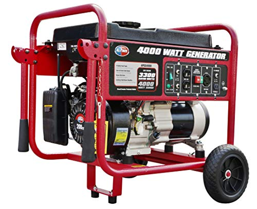All Power America APGG4000 4000 Watt Portable Generator Gas Powered w/Wheel Kit, 4000W