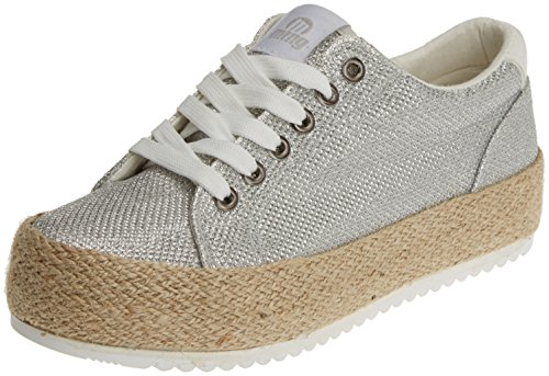 MTNG Women's Evan Fitness Shoes, Silver Silver (Cosmo Plata / Action Pu Blanco / Cosmo Plata C33558)