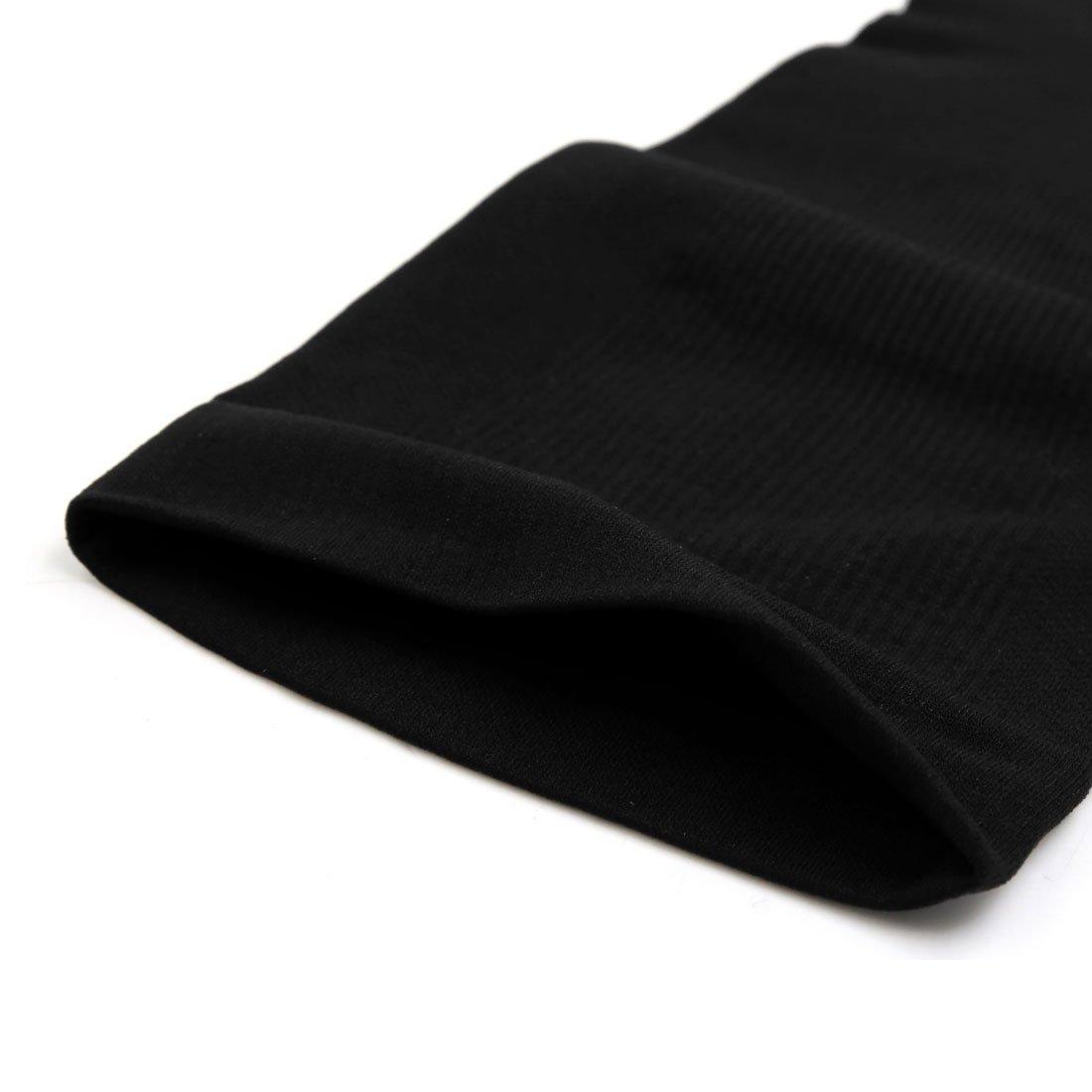 eDealMax 1 paire Noir Taille L Unisexe élastique Jambe Tube Façonner Chaussettes mollet Bas Manches