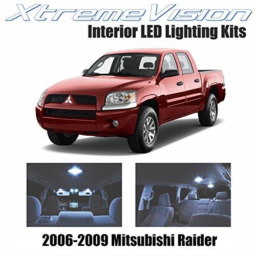 XtremeVision Mitsubishi Raider 2006-2009 (8 Pieces) Cool White Premium Interior LED Kit Package + Installation Tool