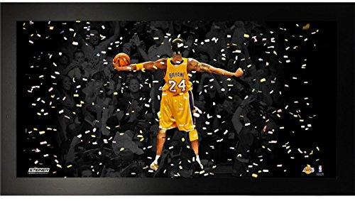 Kobe Bryant Championships - Kobe Bryant 'Championship Celebration' 10x20 Framed Collage