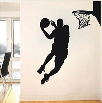 Beau Basketball Player Wall Decal   Jump Shoot Loop Basketball Decal   Basketball  Wall Decal Sticker