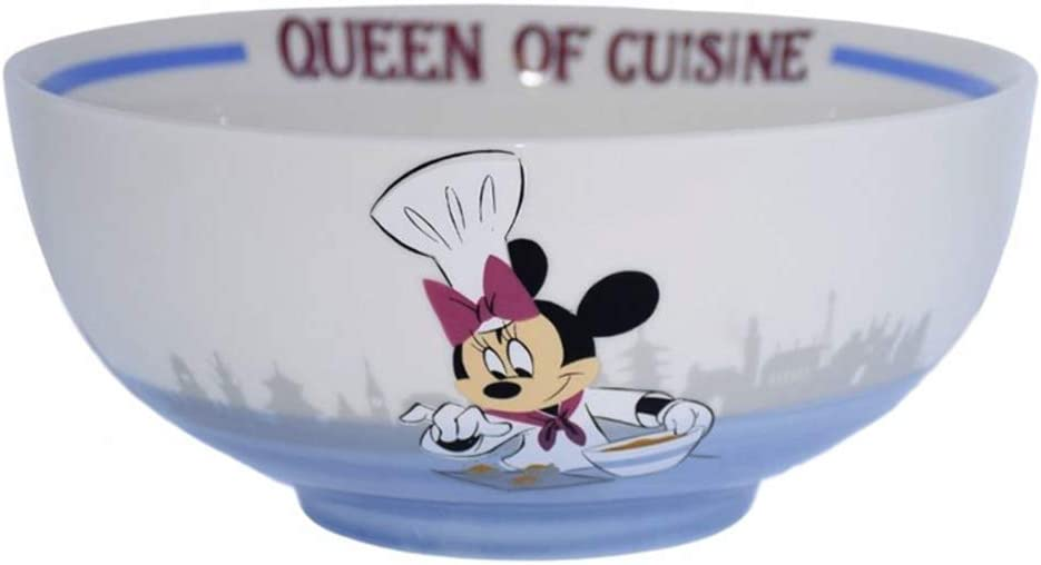 Disney Parks Epcot Food and Wine Festival Queen of Cuisine Minnie Mouse Serving Bowl