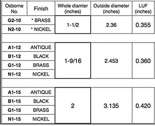 20 QTY .: Osborne No. N2-10 : Size 10 Spurred Spurred Grommets |NIckel ( 13162)