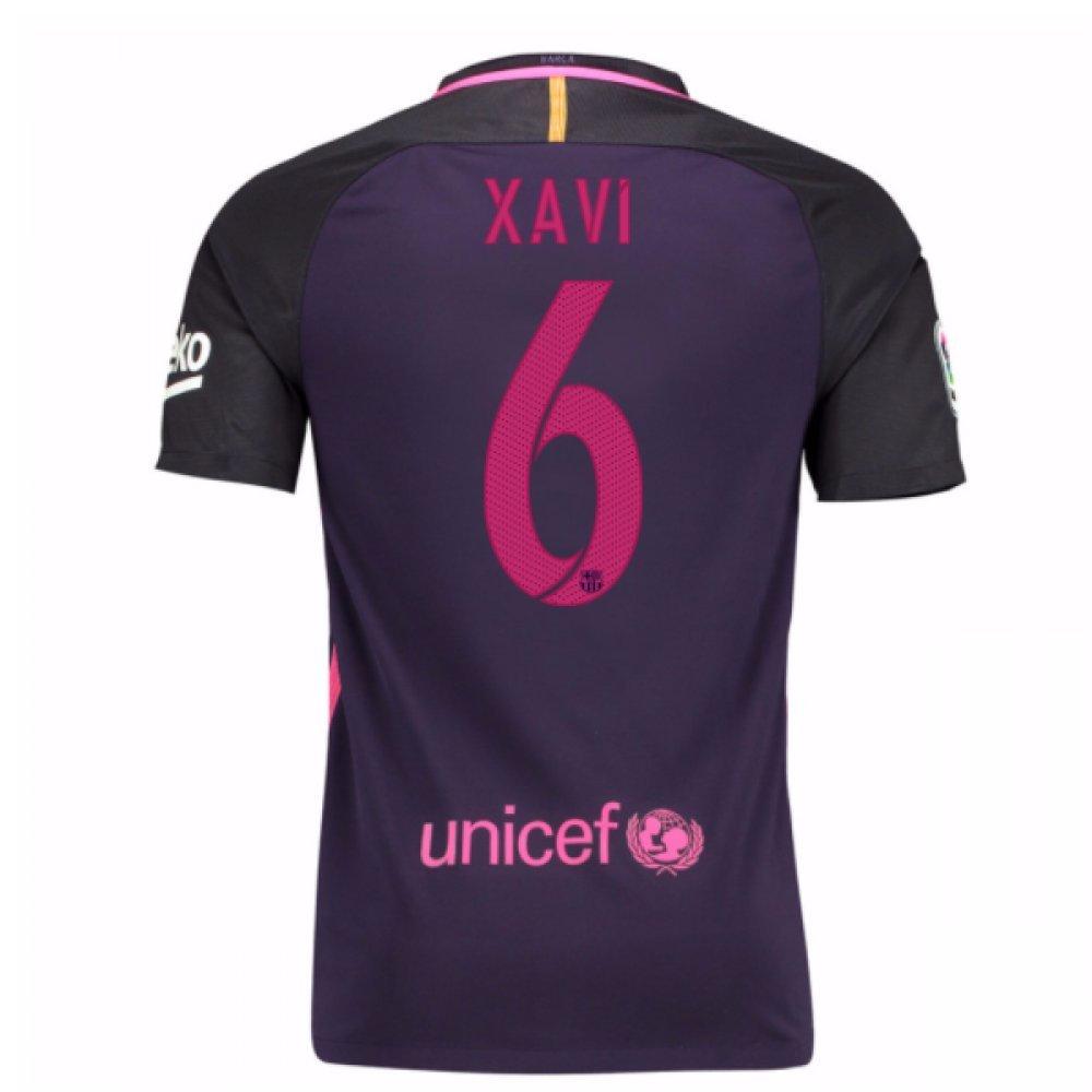 2016-17 Barcelona With Sponsor Away Shirt (Kids) (Xavi 6) B01M71LO91