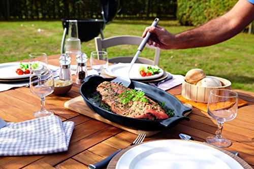 Emile Henry Made In France Flame BBQ Fish Baking Dish, 19.7 x 11'', Charcoal by Emile Henry (Image #1)