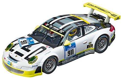 Carrera 27543 Evolution Analog Slot Car Racing Vehicle - Porsche 911 Gt3 RSR Manthey Racing Livery (1: 32 Scale)