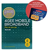 EE 4G 24GB UK & EUROPE PAYG Trio Data SIM - Mobile Broadband -24GB + (FREE International Calling Card - RETAIL PACK)