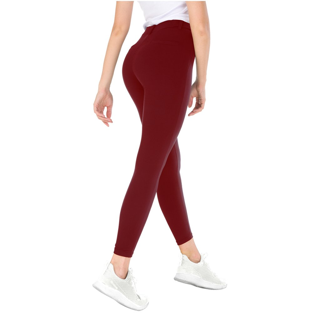 Bamans Yoga Dress Pants, High Waisted Workout Leggings for Women, Office Skinny Lined Leggings, Strechy