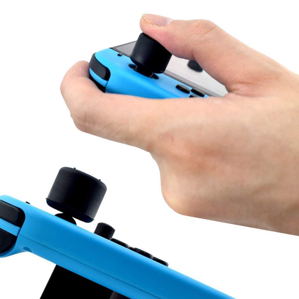 Hehilark 8pcs Caoutchouc Manette Grips Capuchon Silicone pour Nintend commutateur Accessoires de Jeu Joy-Con