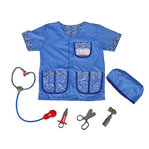 TOPTIE Kid's Veterinarian Costumes Set Little Pet Vet Toddler Costume-Blue-S