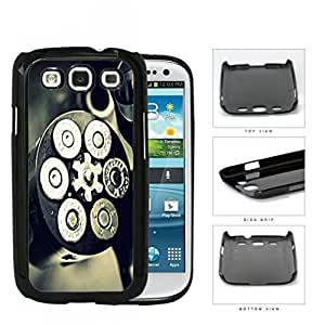 Black and Silver Gun Bullet Chamber with Bullets Loaded Hard Plastic Snap On Cell Phone Case Samsung Galaxy S3 SIII I9300