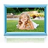 BOJIN Picture Frame Without Mat Plastic Home Fun 8-by-10-Inch Collage Table Top Photo Frame - Blue