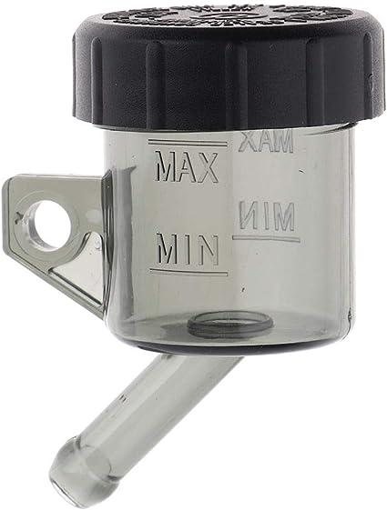 Perfk Bremsflüssigkeitsbehälter Universal Motorrad Fuß Hinten Hauptbremszylinder Tank Bremsflüssigkeitsbehälter Schwarz Auto