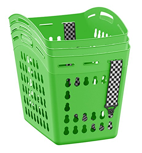 United Solutions LN0336  Hands Free Laundry Tote or Gardening Tote, Laundry Basket with Shoulder Strap for Hands Free Carrying in Green, Set of 3, Easily Carry Gardening Tools