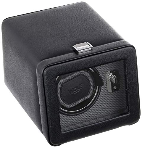 (WOLF 4525029 Windsor Single Watch Winder with Cover,)