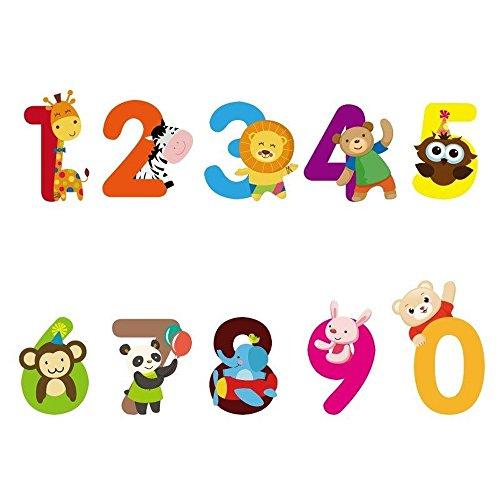 [1 Set Home Decor PVC Cute Numbers Animals Wall Sticker Children Bedroom] (Hello Cupcake Halloween Ideas)
